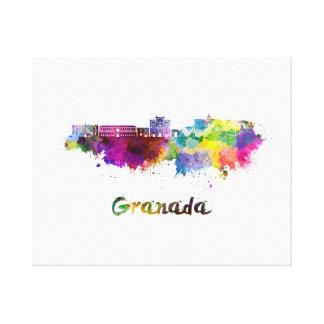 Granada skyline in watercolor canvas print