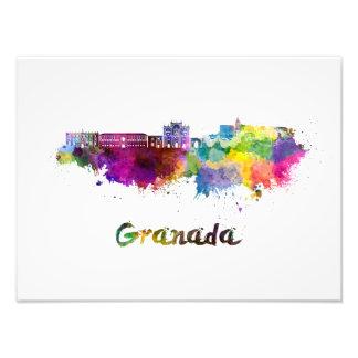 Granada skyline in watercolor photo print
