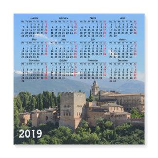 Granada, Spain 2019 calendar