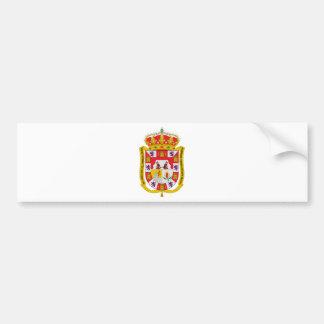 Granada (Spain) Coat of Arms Bumper Sticker