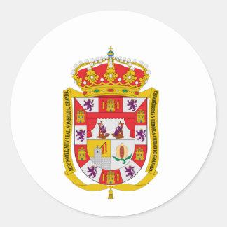 Granada (Spain) Coat of Arms Classic Round Sticker