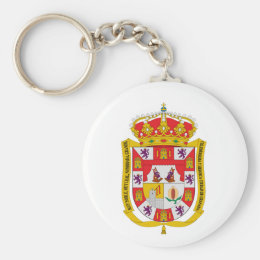 Granada (Spain) Coat of Arms Keychain