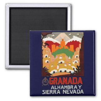 Granada Spain 2 Inch Square Magnet