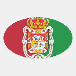 Granada (Spain) Oval Sticker