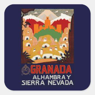 Granada Spain Square Sticker