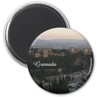Granada,Spain View Photo Standard, 5.7 Cm  Magnet