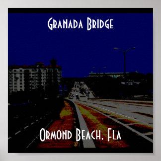 GranadaBridge, puente de Granada, playa de Ormond, Póster
