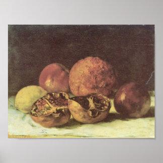 Granadas de Gustavo Courbet- Poster