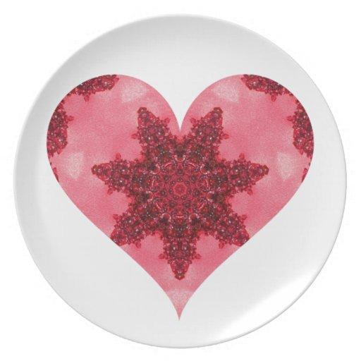 Granate corazón febrero de 2013 plato de cena