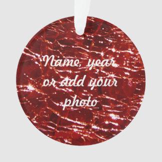 Granate de cristal Crackled del rojo de Birthstone