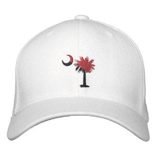 Granate y gorra bordado luna negra del Palmetto Gorra De Béisbol