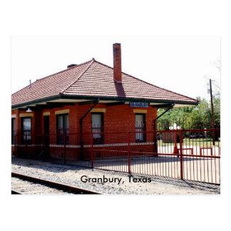 Granbury RR Station, Granbury, Texas Postcard