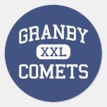 Granby - cometas - High School secundaria - Pegatina Redonda