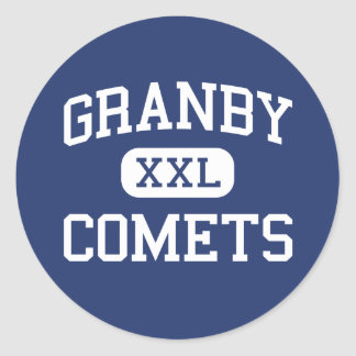 Granby - cometas - High School secundaria - Etiqueta Redonda