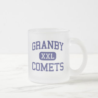 Granby - Comets - High School - Norfolk Virginia Frosted Glass Coffee Mug