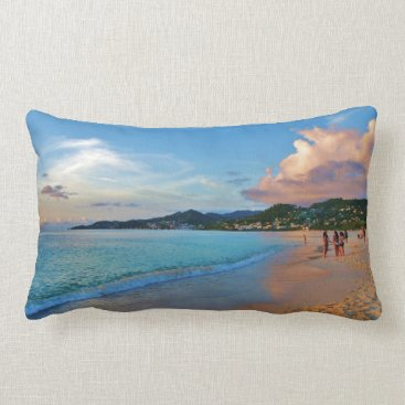 Beach Themed Grand Anse Beach Grenada Lumbar Pillow