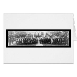 Grand Army Pres Taft Photo 1911 Greeting Card