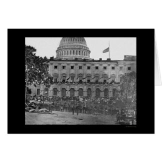 Grand Army Review by the US Capitol 1865 Greeting Card