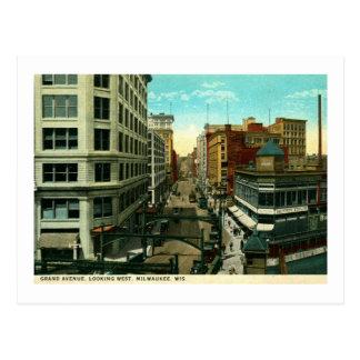 Grand Ave., Milwaukee, Wisconsin Vintage Postcards