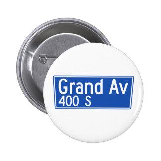 Grand Avenue, Los Angeles, CA Street Sign Pins