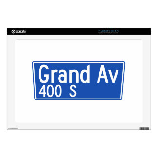 Grand Avenue, Los Angeles, CA Street Sign Decals For Laptops