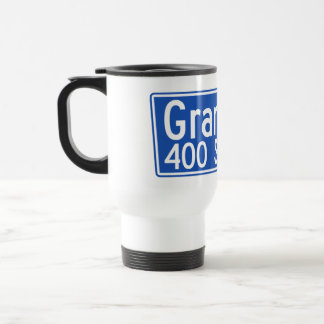 Grand Avenue, Los Angeles, CA Street Sign Travel Mug