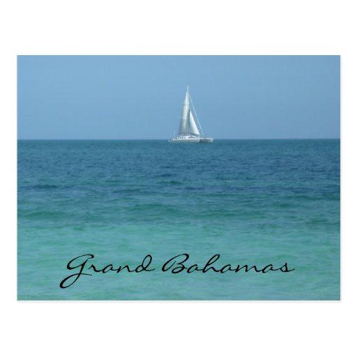 grand bahamas waters postcard