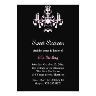 Grand Ballroom Birthday Invitation (black)