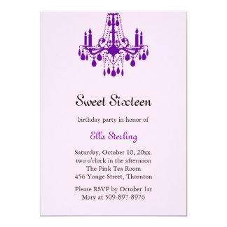 Grand Ballroom Birthday Invitation (purple)