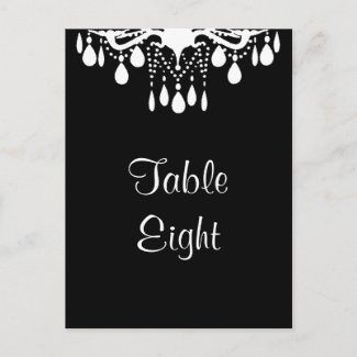 Grand Ballroom Table Number (black) zazzle_postcard