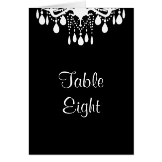 Grand Ballroom Table Number Card (black) zazzle_card