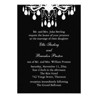 Grand Ballroom Wedding Invitation (black)