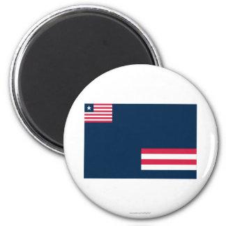 Grand Bassa County Flag 2 Inch Round Magnet
