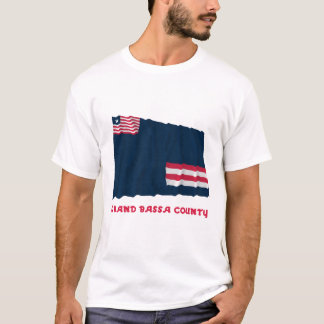 Grand Bassa County Waving Flag with Name T-Shirt