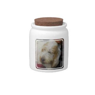 Grand Basset Dog Candy Jar
