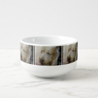 Grand Basset Dog Soup Bowl With Handle