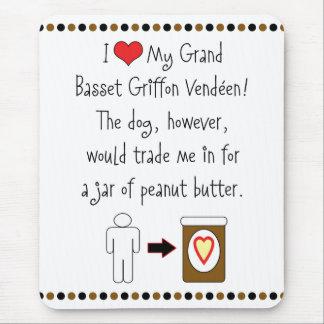 Grand Basset Griffon Vendéen Loves Peanut Butter Mouse Pad