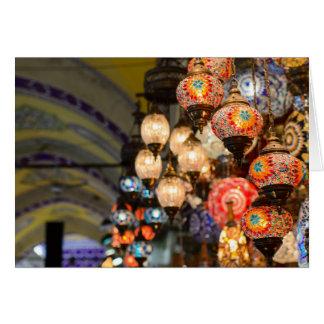Grand Bazaar Lanterns - Blank Inside Greeting Card