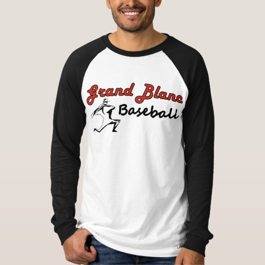 Grand Blanc Baseball Heavy Outlined Text T-Shirt