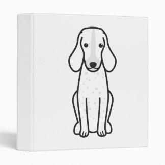 Grand Bleu de Gascogne Dog Cartoon 3 Ring Binders