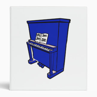 grand blue upright piano with music.png 3 ring binder