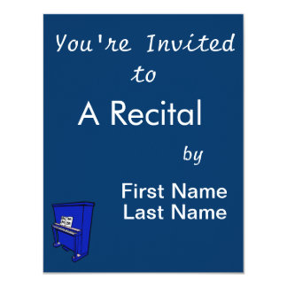 grand blue upright piano with music.png 4.25x5.5 paper invitation card
