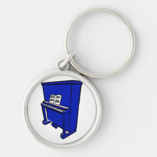 grand blue upright piano with music.png keychain