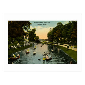 Grand Canal Belle Isle, Detroit, Michigan Postcard