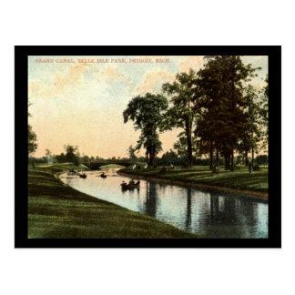 Grand Canal, Belle Isle Park, Detroit Vintage Postcard