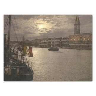 "Grand Canal by Moonlight I, Venice, Italy 15"" X 20"" Tissue Paper"