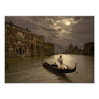 Grand Canal by Moonlight II Venice, archival print