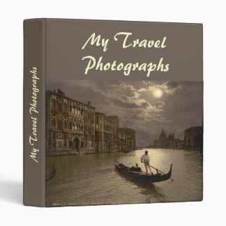 Grand Canal by Moonlight II, Venice, Italy 3 Ring Binder