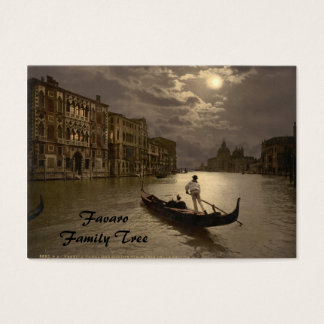 Grand Canal by Moonlight II, Venice, Italy Business Card