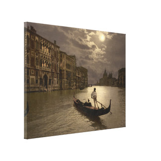 Grand Canal by Moonlight II, Venice, Italy Canvas Print
